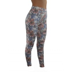 LEGGINGS Fleurs BLEU ROUGE du M/L AU XXL vêtement femme pantalon mode fashion neuf