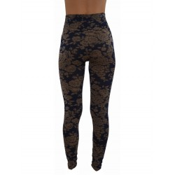 LEGGINGS hyper confort MOTIF FLEURI vêtement femme pantalon mode fashion neuf
