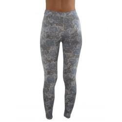 LEGGINGS motifs bleus du M/L AU XXL vêtement femme pantalon mode fashion neuf