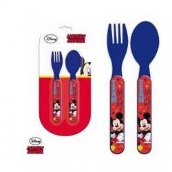 Set de couverts 2 pièces Mickey sous licence Disney contenant une cuillère et une fourchette enfant neuf