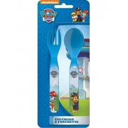 Set de Couverts 2 pièces Pat'Patrouille PawPatrol sous licence officielle contenant une cuillère et une fourchette enfant neuf