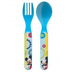 Set de Couverts 2 pièces Mickey™ sous licence Disney contenant une cuillère et une fourchette enfant neuf