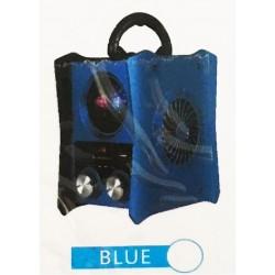 HAUT PARLEUR BLUETOOTH JKX-101 BT LUMINEUX RADIO FM MP3 BLEU IDÉE CADEAU ANNIVERSAIRE NOËL NEUF