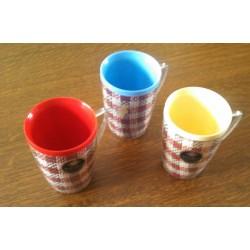 lot de 3 mugs plastiques dur avec anse carribeans be
