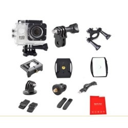 CAMERA GOPRO SPORT NOIRE ETANCHE ECRAN 2 POUCES FULL HD 1080p VIDEO IDEE CADEAU ANNIVERSAIRE NOEL NEUVE