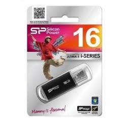 CLE USB 16 GIGA SILICON POWER FLASH DRIVE ULTIMA II NOIRE INFORMATIQUE BUREAUTIQUE NEUF SOUS BLISTER