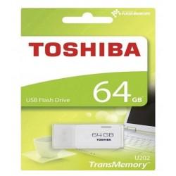 CLE USB 64 GIGA TOSHIBA FLASH DRIVE BLANC INFORMATIQUE BUREAUTIQUE NEUF SOUS BLISTER
