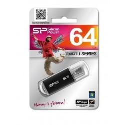 CLE USB 2.0 64 GIGA SILICON POWER FLASH DRIVE ULTIMA II NOIRE INFORMATIQUE BUREAUTIQUE NEUF SOUS BLISTER