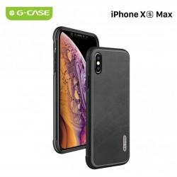 COQUE RIGIDE ANTI CHOC PORTABLE IPHONE XS MAX 6,5 '' G-CASE MONTE CARLO SERIES ANTI TRACE DE DOIGTS MOTIF LISSE NOIR NEUF