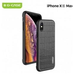 COQUE RIGIDE ANTI CHOC PORTABLE IPHONE XS MAX 6,5 '' G-CASE MONTE CARLO SERIES ANTI TRACE DE DOIGTS MOTIF CROCO NOIR NEUF
