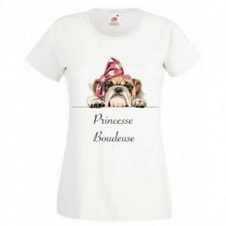 T-shirt enfant fille manche courte -Princesse boudeuse du 3/4 au 9/11 ans cadeau anniversaire noel neuf