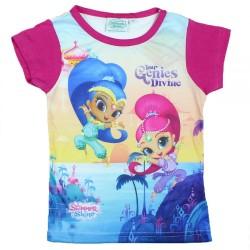 T-shirt manches courtes rose enfant fille Shimmer et Shine du 2 au 6 ans Idée cadeau anniversaire noel neuf