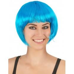 Perruque courte bleu aqua femme adulte carnaval anniversaire mariage retraite neuve