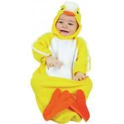 Déguisement poussin bébé turbulette avec capuche 6/12 mois carnaval anniversaire fete neuf