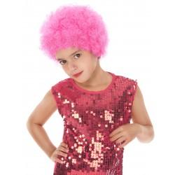 Perruque clown disco enfant rose Déguisement carnaval anniversaire fete neuf