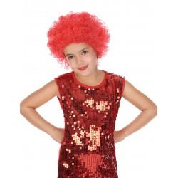Perruque clown disco enfant rouge Déguisement carnaval anniversaire fete neuf