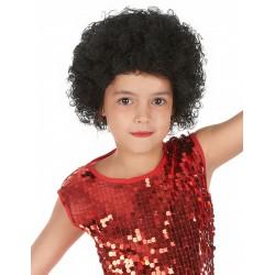 Perruque clown disco afro enfant noire Déguisement carnaval anniversaire fete neuf