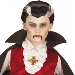 Perruque vampire bicolore enfant Halloween Déguisement carnaval anniversaire fete neuf