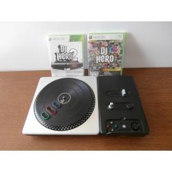 Dj Hero 1&2 neuf blister + Platine Pour Xbox 360