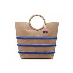 Panier avec des galons sur le devant et un pompon shopping couleurs diverses idée cadeau anniversaire noël NEUF