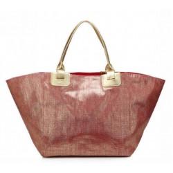 Panier brillant rouge avec anses shopping couleurs diverses idée cadeau anniversaire noël NEUF