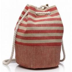Sac tendance rayé forme sac à dos shopping couleurs diverses idée cadeau anniversaire noël NEUF