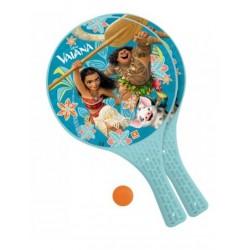 Lot 2 Raquettes de Plage Vaiana Disney + 1 balle garcon jouet Plein air neuf