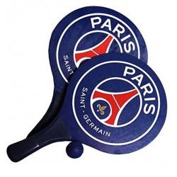 Lot 2 Raquettes de Plage PSG Paris st Germain + 1 balle jouet Plein air foot neuf