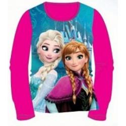 T-shirt manches longues la reine des neiges fuchsia du 2 au 6 ans licence officielle Disney FILLE VETEMENT NEUF