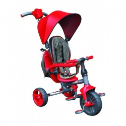 Tricycle Evolutif Strolly Compact rouge bébé enfant jeux plein air idée cadeau anniversaire noël neuf