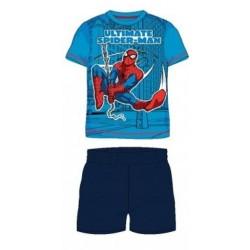Pyjama Court 2 pièces Spiderman bleu du 2 au 6 ans GARCON VETEMENT SOUS LICENCE OFFICIELLE MARVEL NEUF