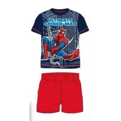 Pyjama Court 2 pièces Spiderman rouge du 2 au 6 ans GARCON VETEMENT SOUS LICENCE OFFICIELLE MARVEL NEUF