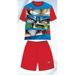Pyjama Court 2 pièces Avengers rouge du 3 au 8 ans GARCON VETEMENT SOUS LICENCE OFFICIELLE MARVEL NEUF