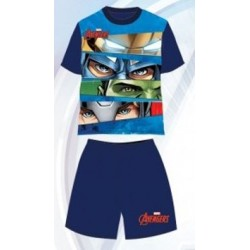 Pyjama Court 2 pièces Avengers bleu du 3 au 8 ans GARCON VETEMENT SOUS LICENCE OFFICIELLE MARVEL NEUF