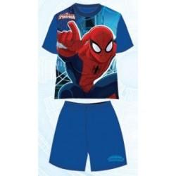 Pyjama Court 2 pièces Spiderman v2 bleu du 3 au 8 ans GARCON VETEMENT SOUS LICENCE OFFICIELLE MARVEL NEUF