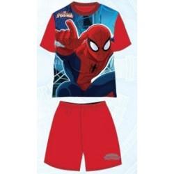 Pyjama Court 2 pièces Spiderman v2 rouge du 3 au 8 ans GARCON VETEMENT SOUS LICENCE OFFICIELLE MARVEL NEUF