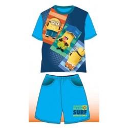 Pyjama Court 2 pièces Minions bleu du 4 au 10 ans VETEMENT SOUS LICENCE OFFICIELLE NEUF