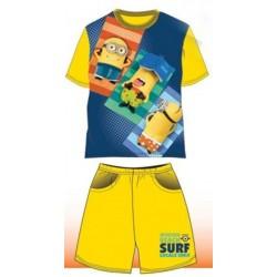 Pyjama Court 2 pièces Minions jaune du 4 au 10 ans VETEMENT SOUS LICENCE OFFICIELLE NEUF