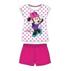 Pyjama Court 2 pièces Minnie rose du 2 au 6 ans FILLE VETEMENT SOUS LICENCE OFFICIELLE DISNEY NEUF