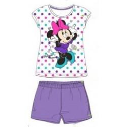 Pyjama Court 2 pièces Minnie mauve du 2 au 6 ans ENFANT FILLE VETEMENT SOUS LICENCE OFFICIELLE DISNEY NEUF