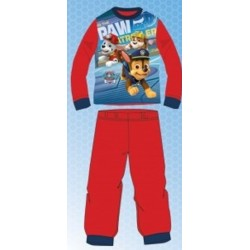 Ensemble Pyjama long pat trouille Paw Patrol rouge du 2 au 6 ans GARÇON VÊTEMENT LICENCE OFFICIELLE NEUF