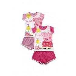 Pyjama Court 2 pièces Peppa Pig du 2 au 6 ans v02 ENFANT FILLE VETEMENT SOUS LICENCE OFFICIELLE NEUF