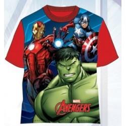 T-Shirt Manches Courtes Avengers V2 rouge du 3 au 8 ans licence officielle Marvel ENFANT VETEMENT NEUF