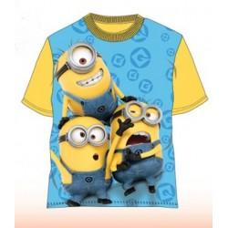 T Shirt Manches courtes Minions jaune du 4 au 10 ans licence officielle VETEMENT NEUF