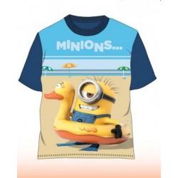 T Shirt Manches courtes Minions bleu du 4 au 10 ans licence officielle VETEMENT NEUF