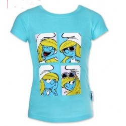 T shirt manches courtes les schtroumpf bleu du 2 au 6 ans licence officielle VETEMENT NEUF