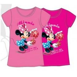 T-Shirt manches courtes Minnie V02 du 3 au 8 ans licence officielle Disney VETEMENT NEUF
