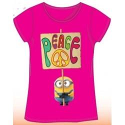 T Shirt Manches courtes les Minions fille rose du 4 au 10 ans licence officielle VETEMENT NEUF