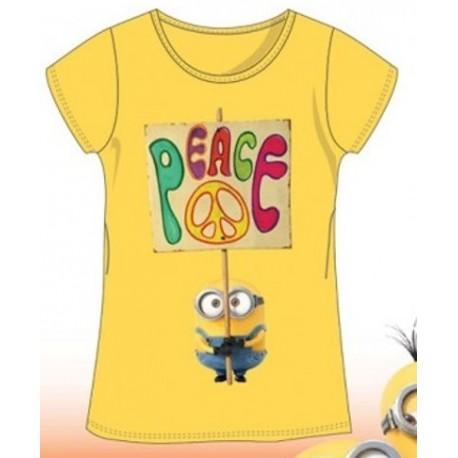 T Shirt Manches courtes les Minions fille jaune du 4 au 10 ans licence officielle VETEMENT NEUF