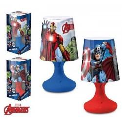 Lampe de chevet Led Avengers licence officielle Marvel déco chambre enfant idée cadeau anniversaire noel neuve